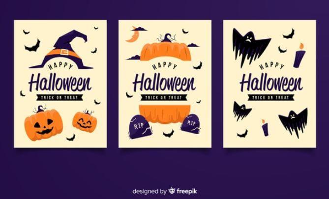 invitaciones halloween color freepik
