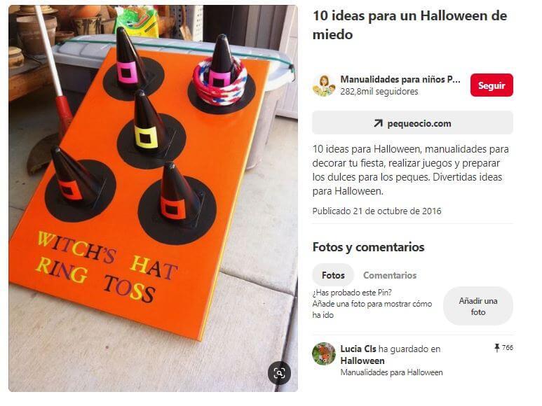 juego halloween sombreros de bruja