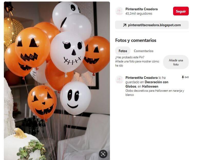 pintar globos halloween
