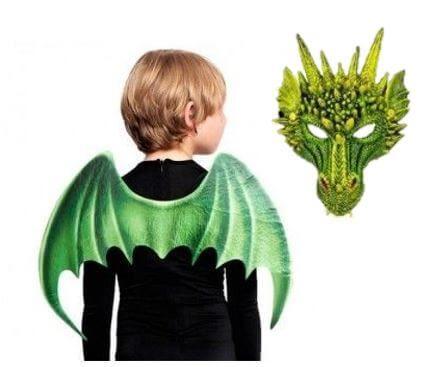 conjunto accesorios disfraz dragon