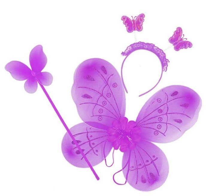conjunto disfraz mariposa hada