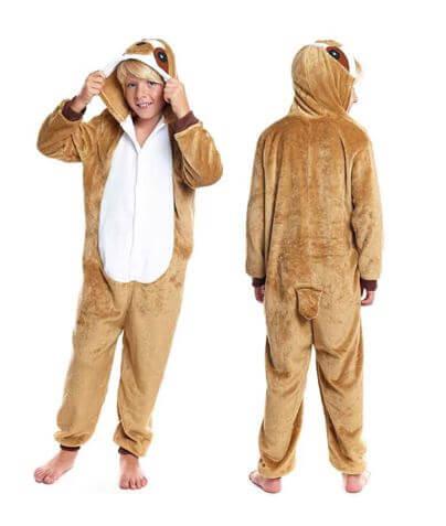 disfraz pijama oso perezoso idea regalo ninos