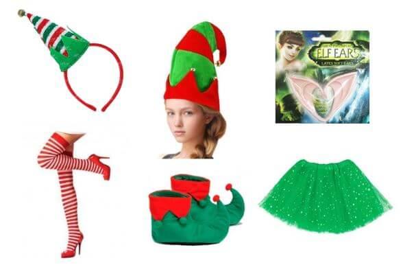 accesorios disfraz duende navidad