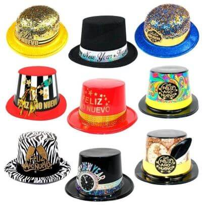cotillon sombreros nochevieja