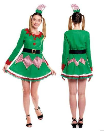 disfraz duende navidad adulto mujer