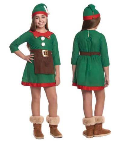 disfraz duende navidad nina
