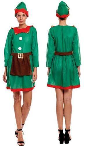 disfraz elfa navidad mujer