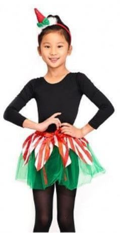 disfraz elfa navidad nina tutu