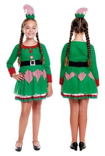 disfraz elfa navidena nina