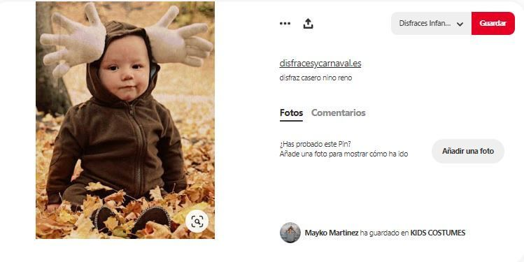 disfraz reno casero bebe