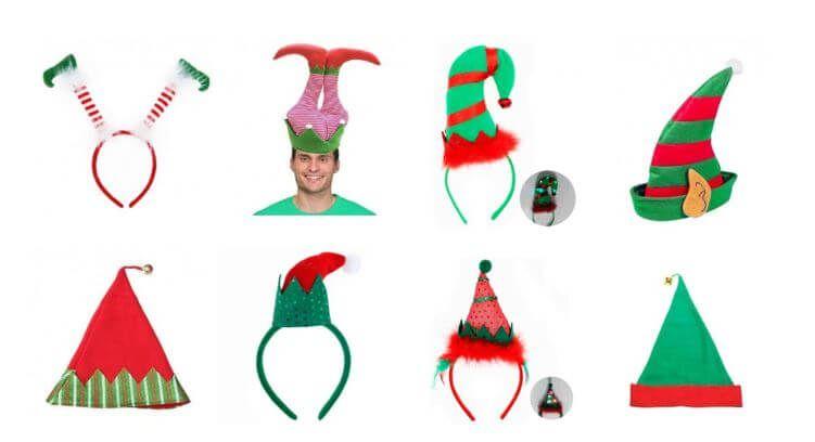 gorros elfo duende navidad