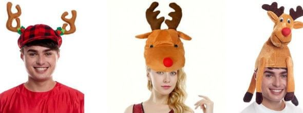 gorros reno navideno