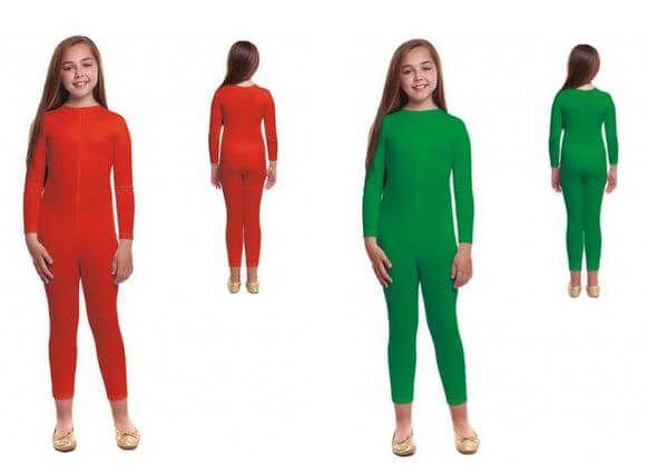 mono maillot verde rojo disfraz