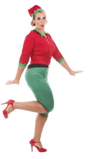prendas rojas verdes disfraz elfo