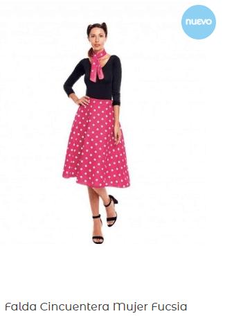 Grease-falda-lunares-disfraz-barato