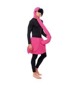 disfraz divertido flamenco rosa