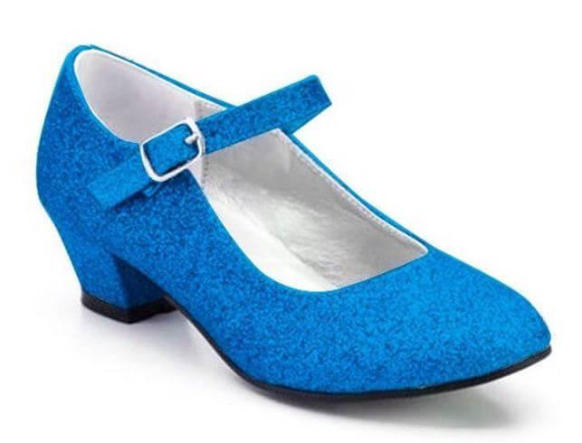 zapatos princesa azules