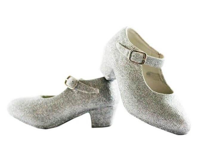 zapatos princesa frozen plata