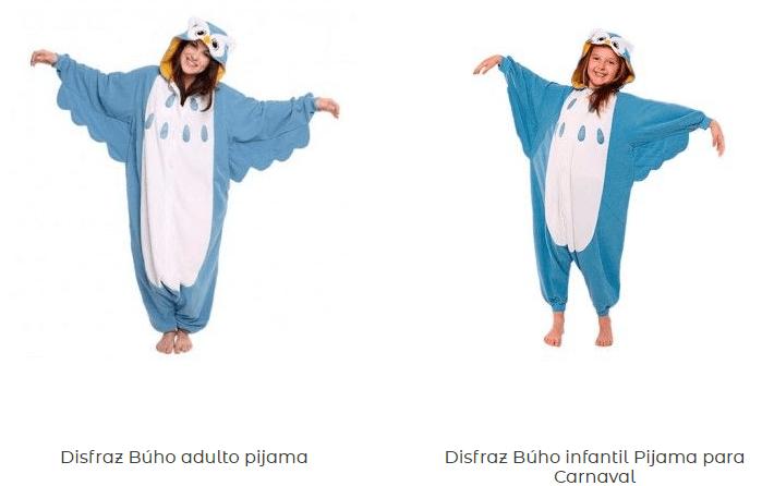 Disfraces-pijamas-adulto-originales-baratos-búho