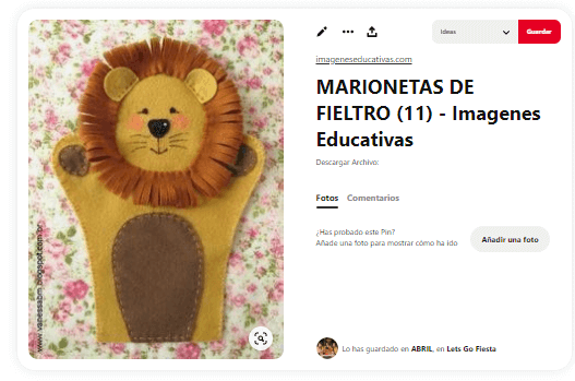 Marionetas-caseras-de-mano-leon