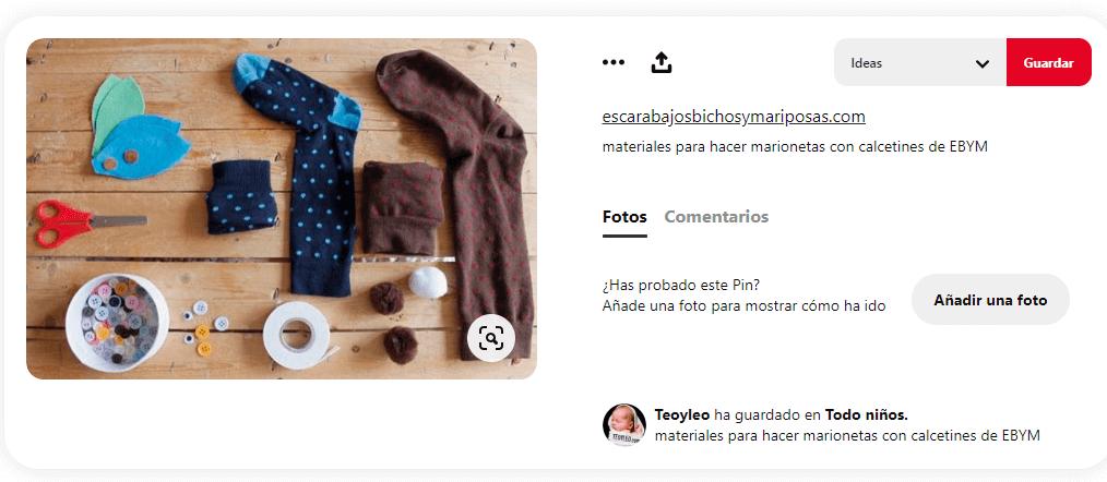 Materiales-marionetas-caseras-con-calcetines