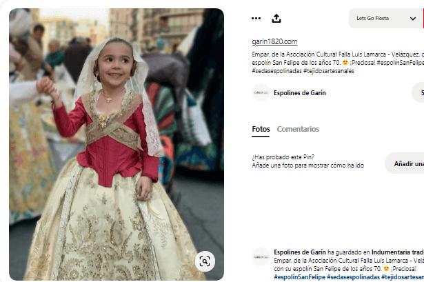 disfraz fallera niña falda corse delantal