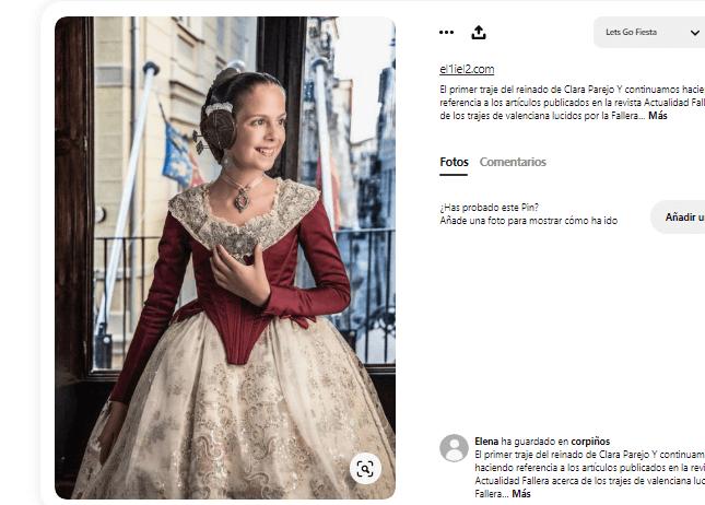 disfraz fallera niña falda