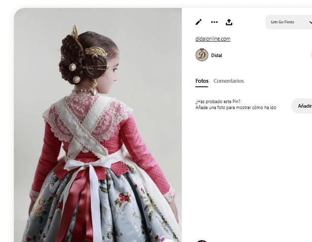disfraz fallera niña manteleta