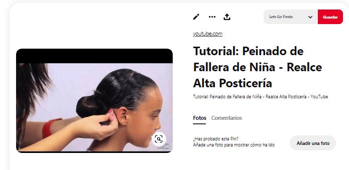 disfraz fallera niña peinado moño