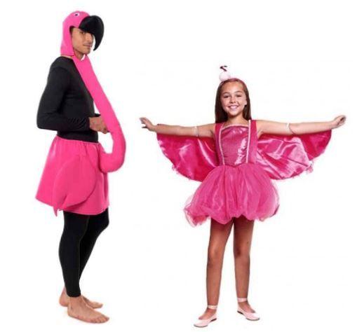 mejores disfraces flamenco rosa