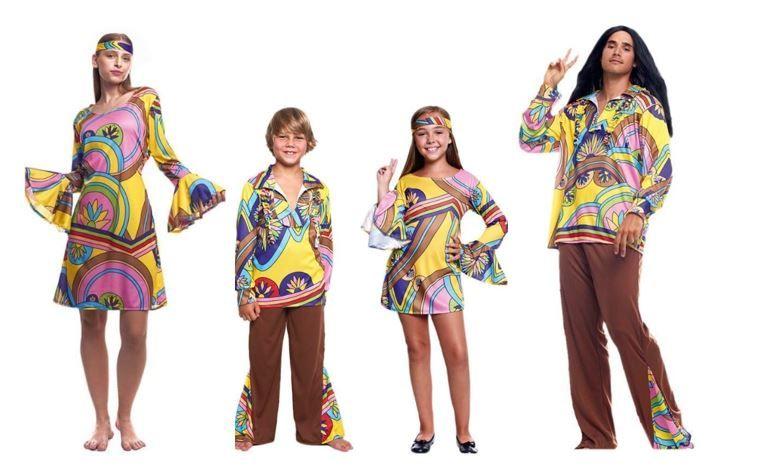 mejores disfraces hippies decadas
