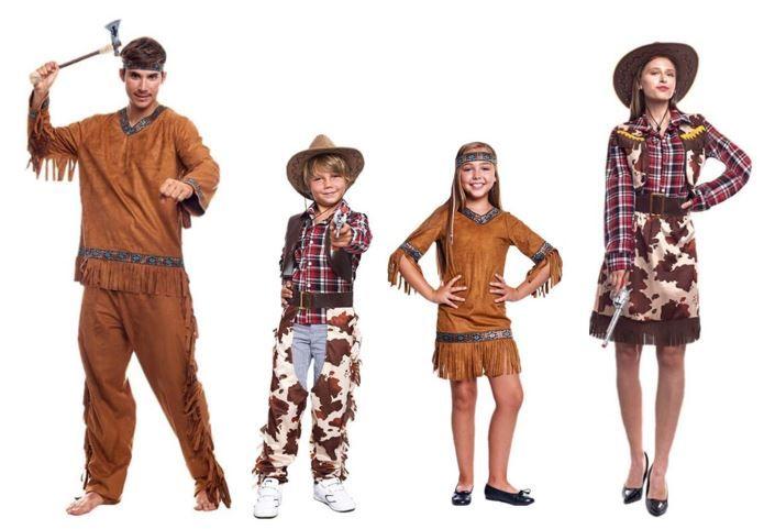 mejores disfraces indios vaqueros historicos
