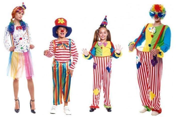 mejores disfraces payasos circo