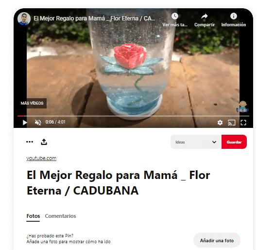 Regalo Dia de la madre manualidad flor cristal