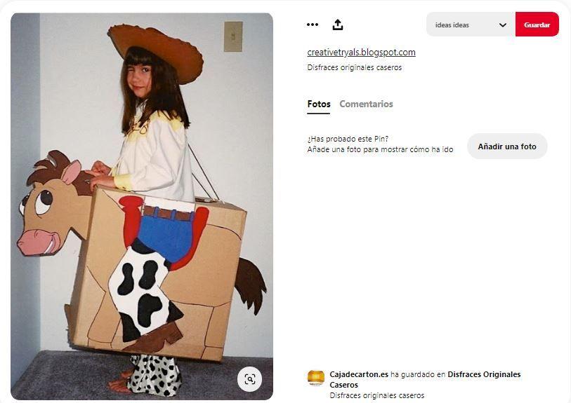 caballo cartulina disfraz vaquero