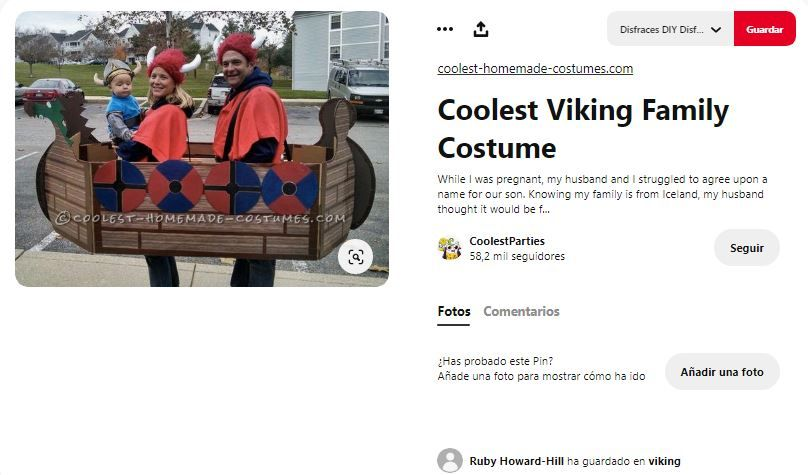 disfraces vikingos familia