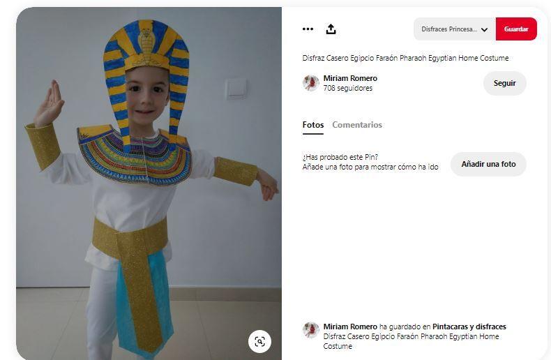 disfraces egipcios a mano