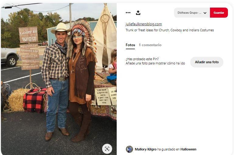 disfraces indios vaqueros