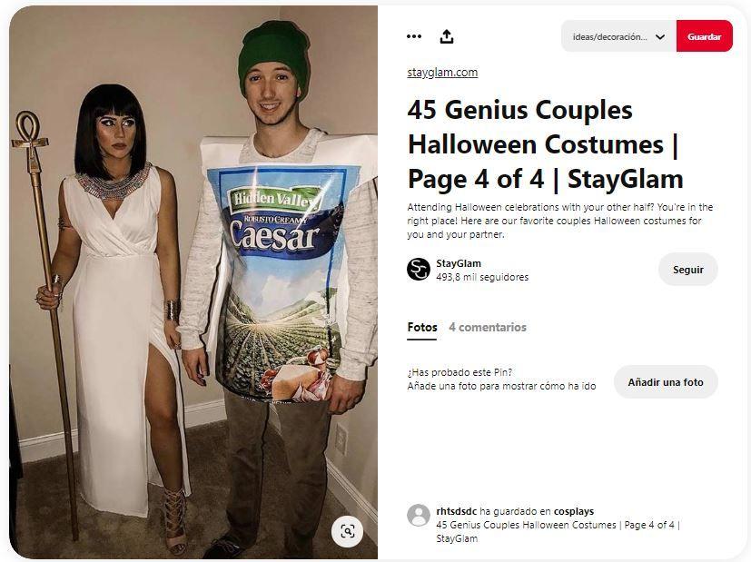 disfraz pareja original