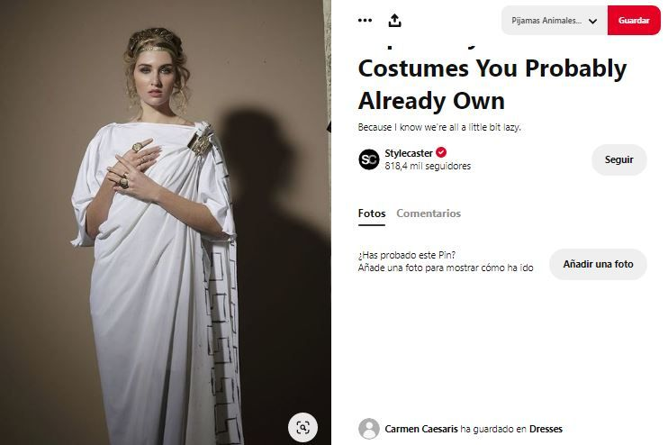 disfraz romana a mano