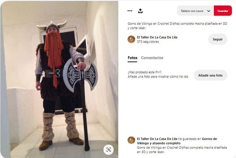 disfraz vikingo alta calidad