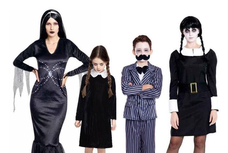 mejores disfraces familia addams