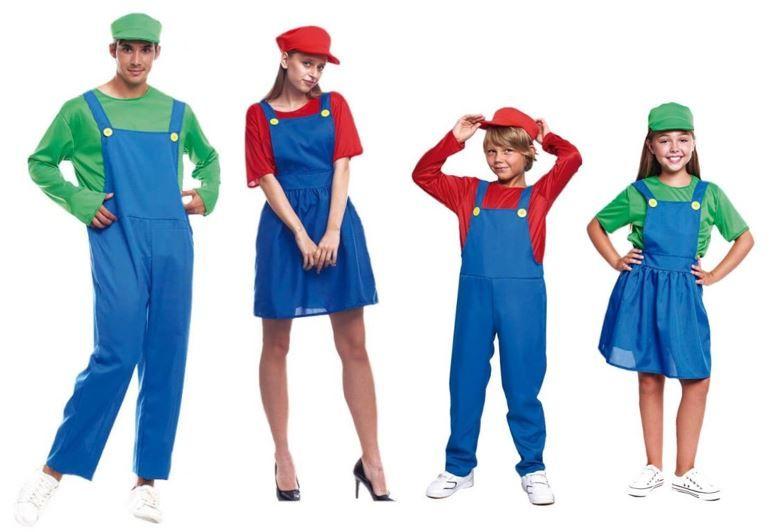 mejores disfraces grupo marios bros