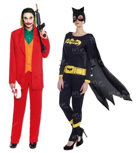 mejores disfraces pareja batman joker