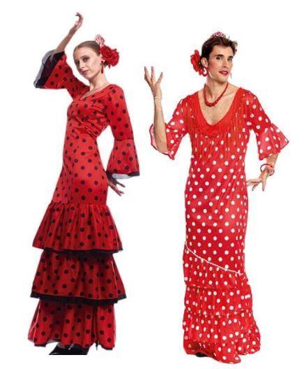 mejores disfraces pareja flamencas