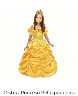 Disfraces princesas complementos ideoneos niña bella bestia