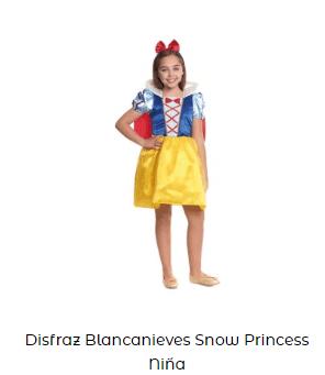 Disfraces princesas complementos ideoneos niña blancanieves