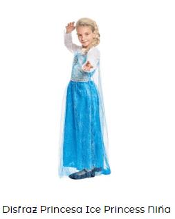 Disfraces princesas complementos ideoneos niña frozen elsa