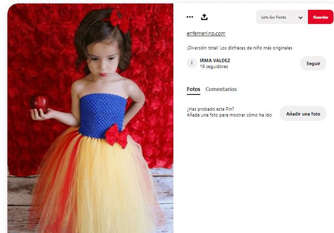 Disfraces princesas tutus niña moderna blancanieves