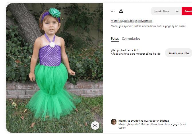 Disfraces princesas tutus niña moderna sirenita